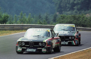 The Team Luigi cars at the Nurburgring in 1976. My car is second in line.