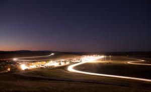 Night racing at Thunderhill.