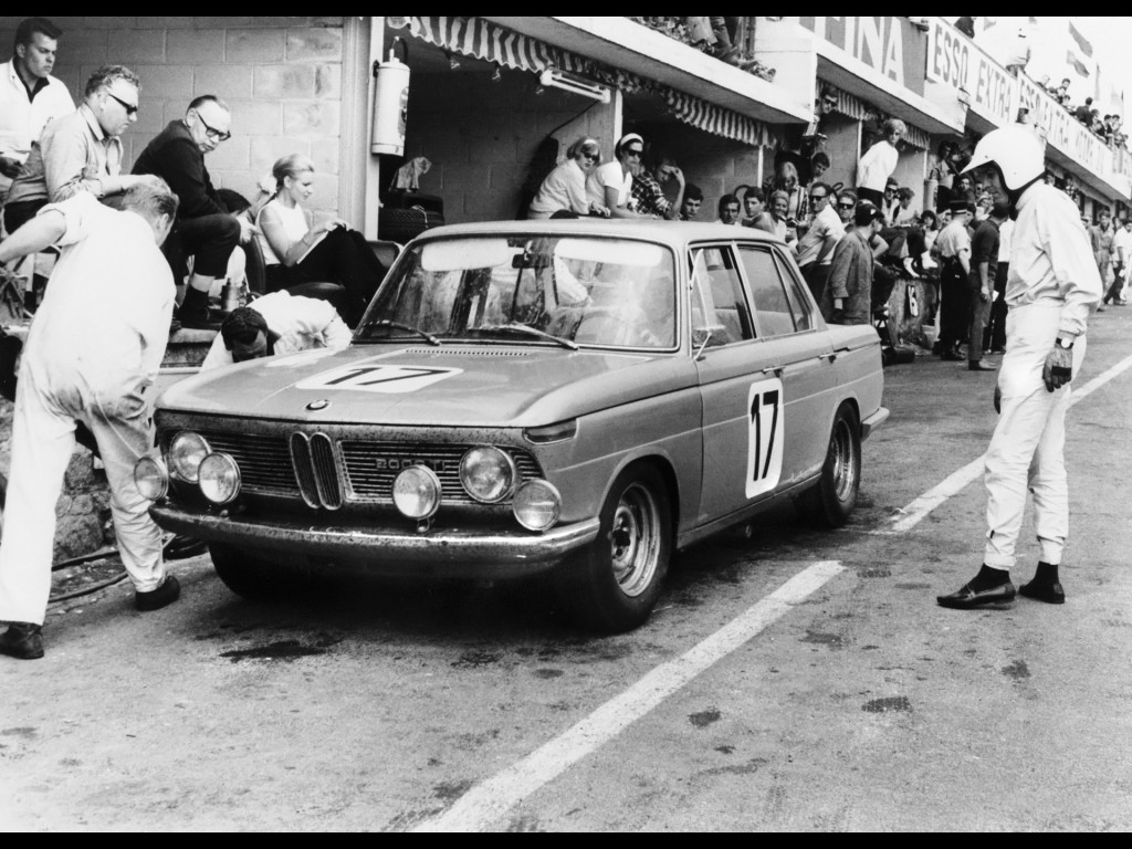 BMW 1800 wins the 24-hours race at Spa Francorchamps 1966.